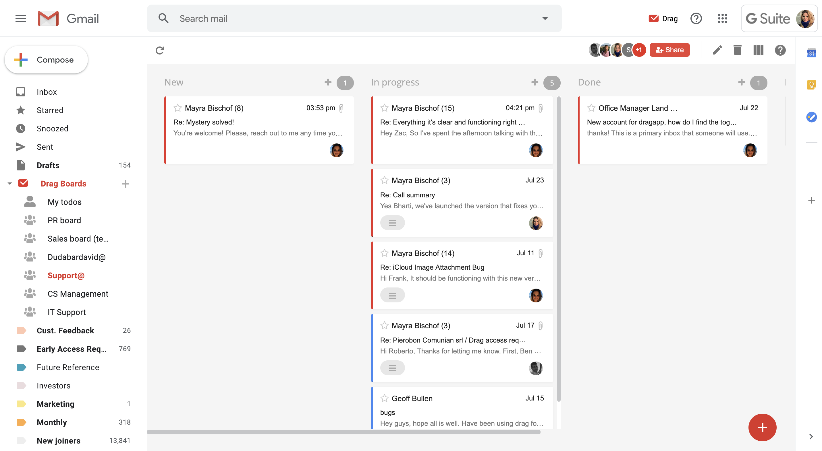 Access My Gmail Inbox turn gmail into a shared inbox for teams! | dragapp
