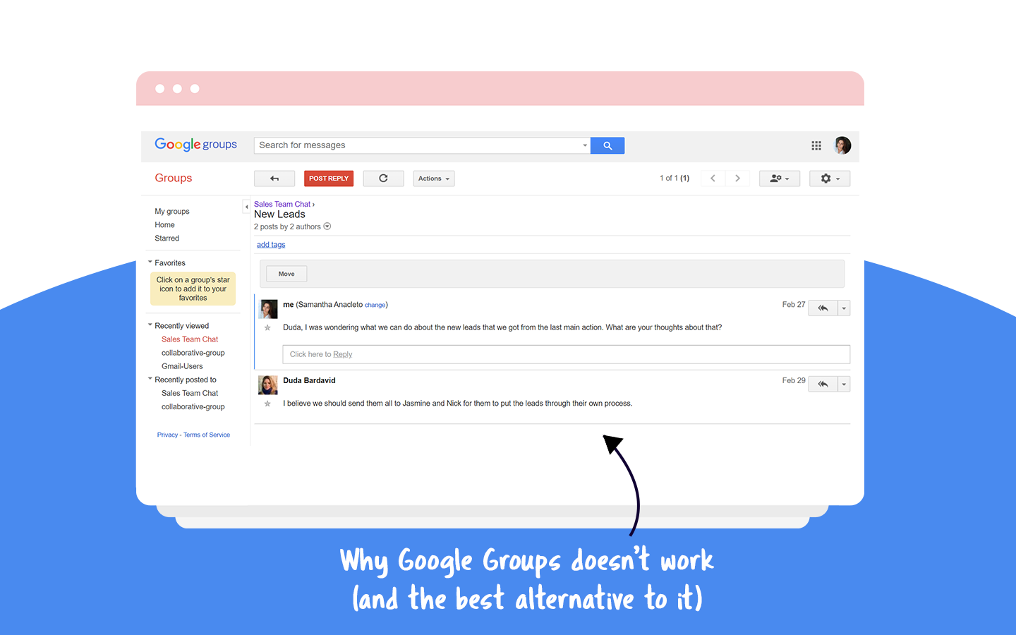google groups alternative