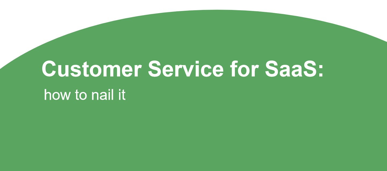 customer service saas
