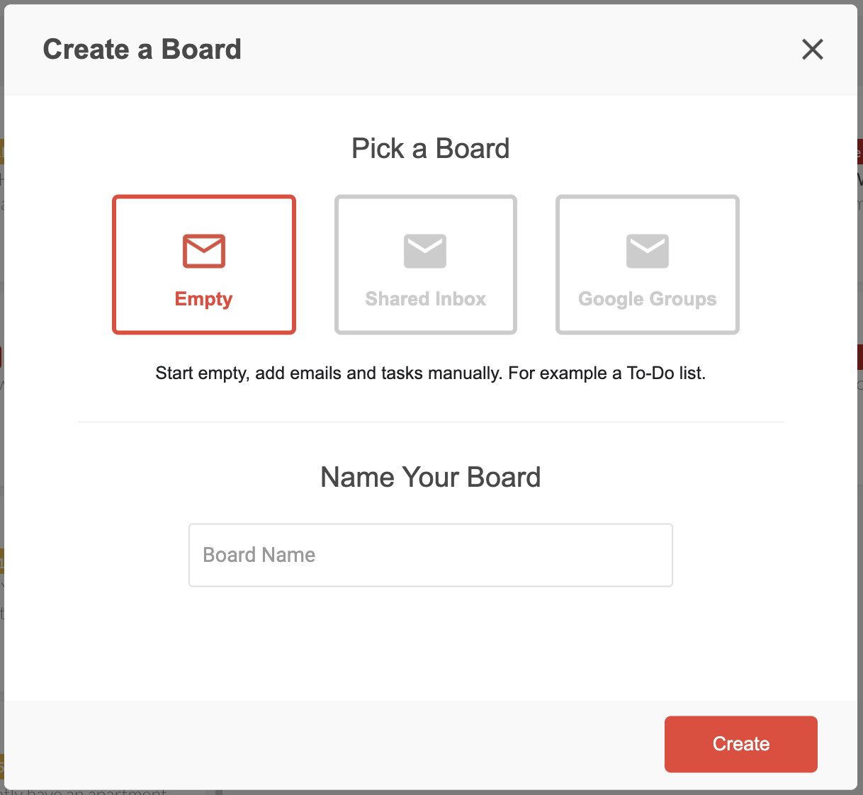 create boards Drag
