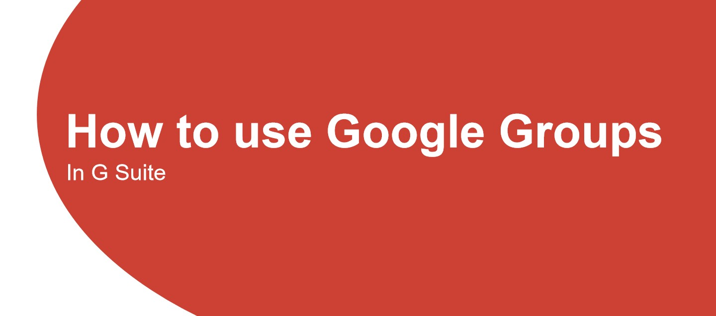 how to use google groups