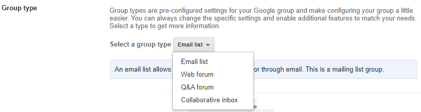 creating google groups