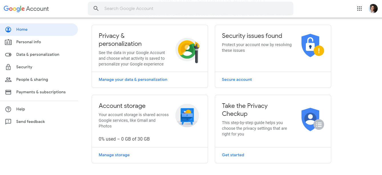 Gmail Security Setting your account
