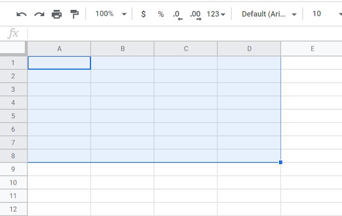 range spreadsheets