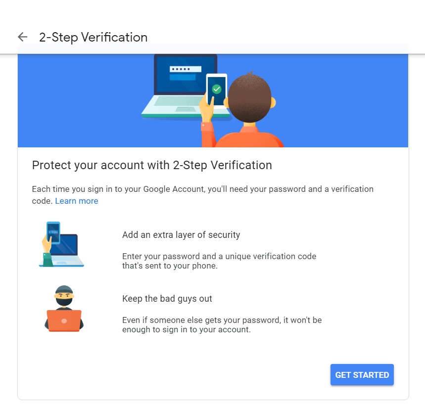 2-step verification Google account