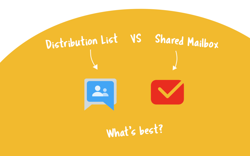 distribution list vs shared mailbox