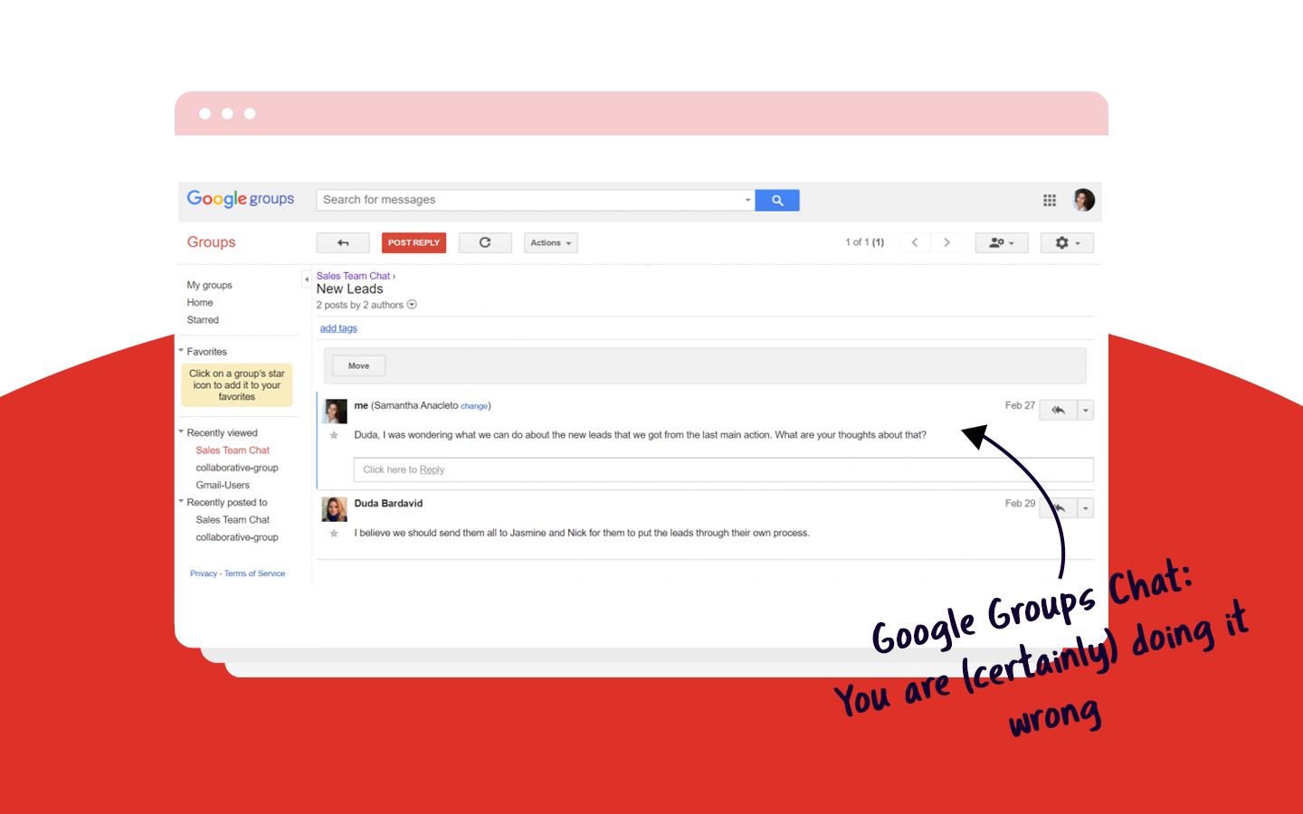 google groups chat