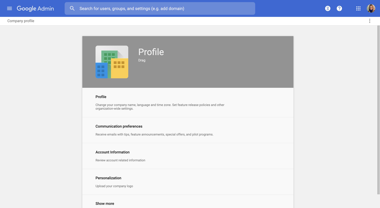Company profile G Suite