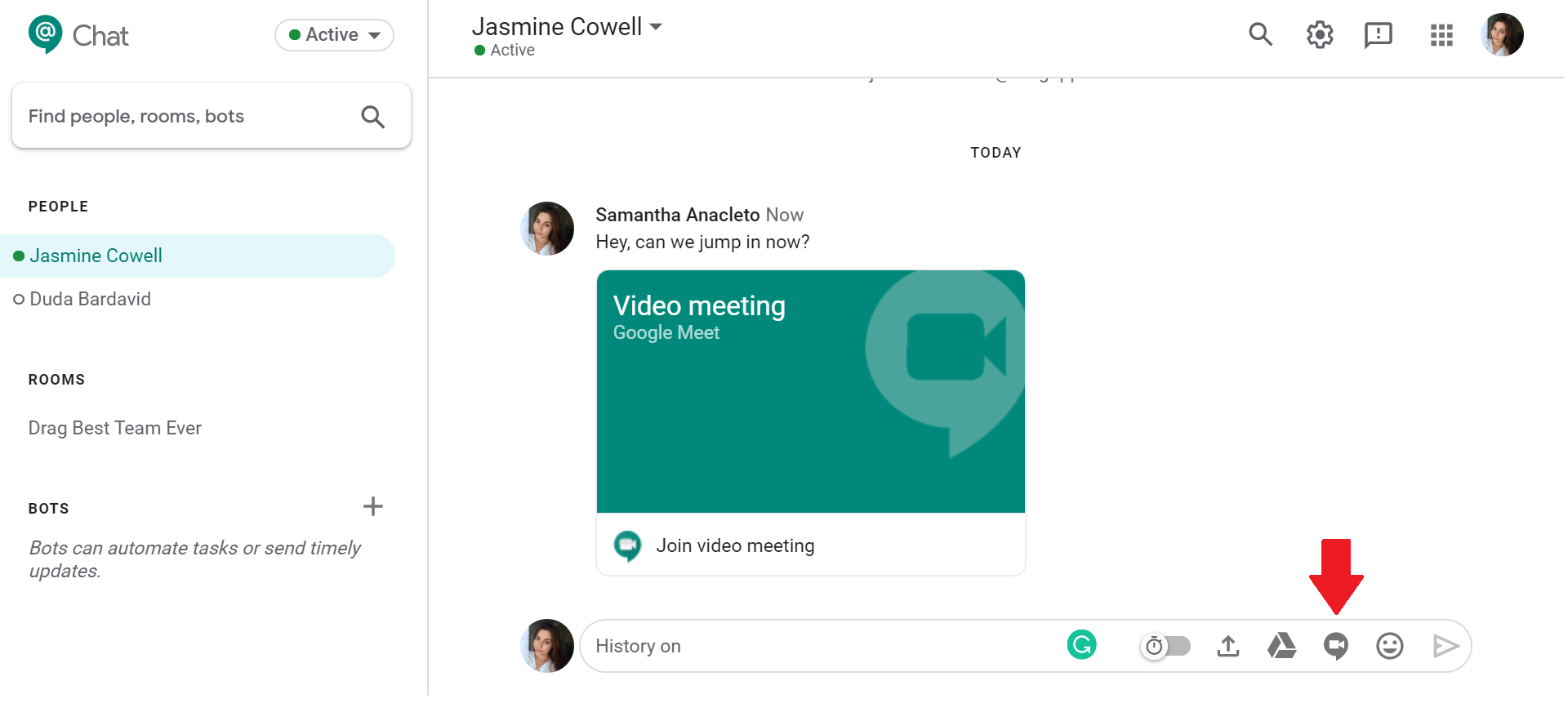 google chat google meet