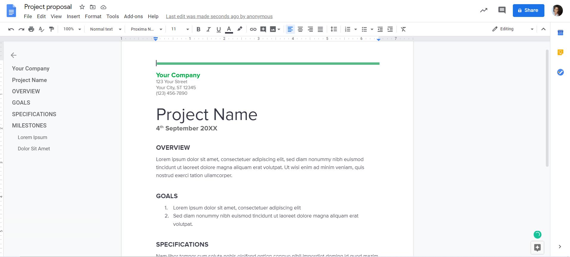 G Suite Project Management