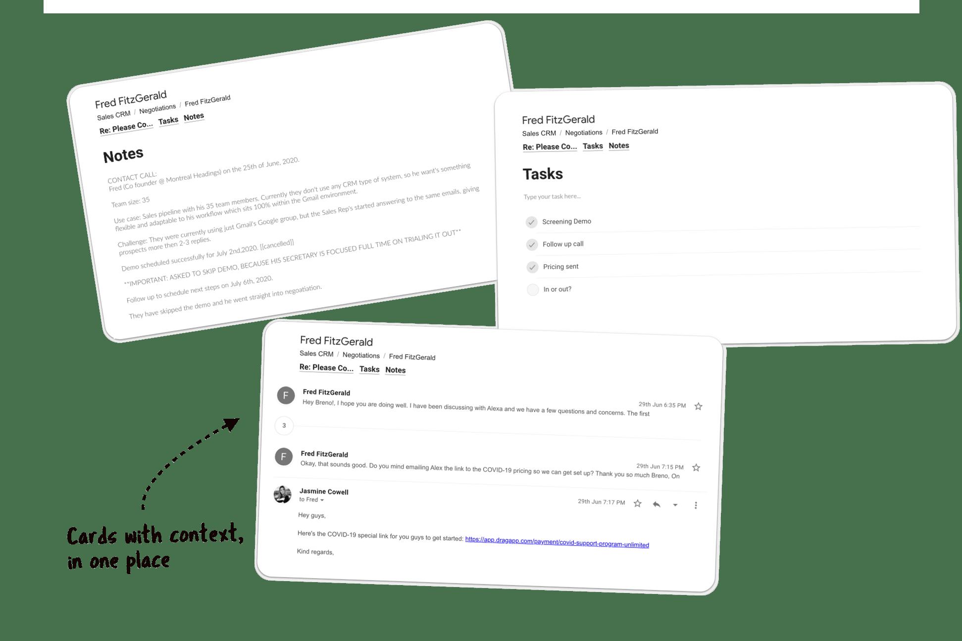 sales gmail drag app