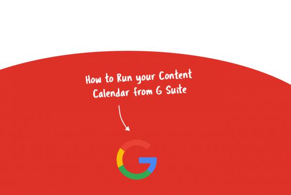 content calendar G Suite