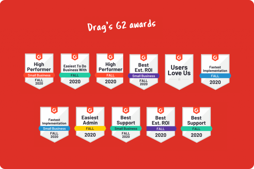 Drag G2 awards