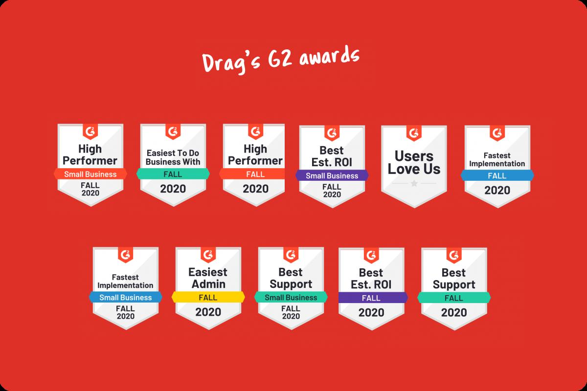 Drag G2 awards