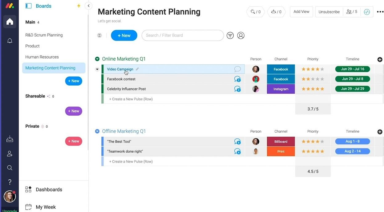project management tools marketing agency